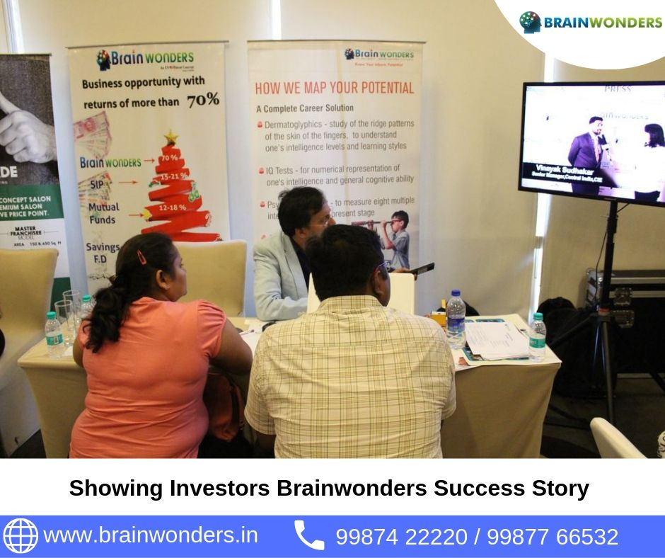 Showing Investors Brainwonders Success Story. biometric test for students, career counselling, career counsellor mumbai,  career counselor near me